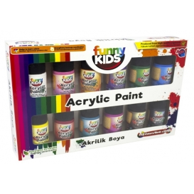 Funny Kids Akrilik Boya Seti 12 Renk 20ml
