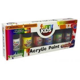 Funny Kids Akrilik Boya Seti 6 Renk 20ml