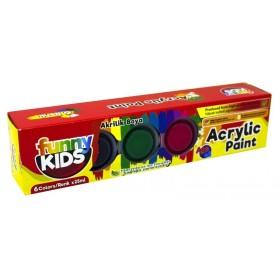 Funny Kids Akrilik Boya Seti 6 Renk x 25ml