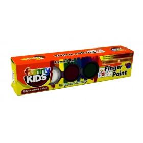 Funny Kids Parmak Boyası Seti 6 Renk x 25ml
