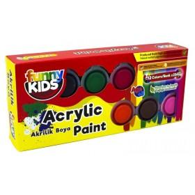 Funny Kids Akrilik Boya Seti 12 Renk x 25ml
