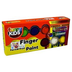 Funny Kids Parmak Boyası Seti 12 Renk x 25ml