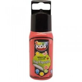 Funny Kids Yap Yapıştır 60cc  KIRMIZI - 7508