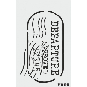 biStencil Şablon 9x16cm V-008