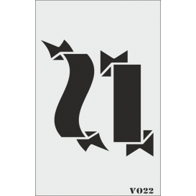 biStencil Şablon 9x16cm V-022