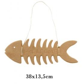 Kılçık Balık Pano 38x13,5cm PA28