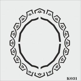 biStencil Şablon 25x25cm K-031