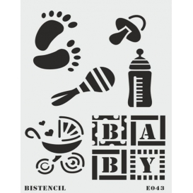 biStencil Baby Şablon 25x35cm E-043