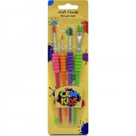 Cem Kids Soft Touch Fırça Seti 4'Lü