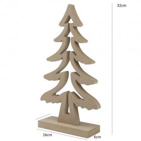 Yılbaşı Ağacı Dekoratif Ayaklı 32cm Ahşap Obje