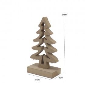 Yılbaşı Ağacı Dekoratif Ayaklı 17cm Ahşap Obje