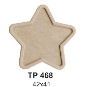 Ahşap Yıldız Tepsi Büyük 42x41cm
