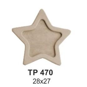 Ahşap Yıldız Tepsi Küçük 28x27cm