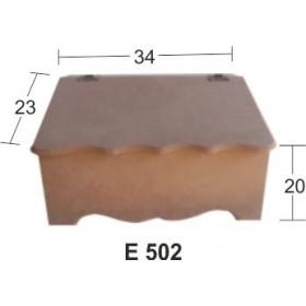 Küçük Ahşap Ekmeklik 34x23x20cm