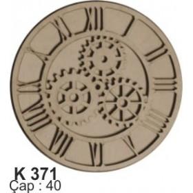 18mm Dekoratif Saat Ahşap Obje (Çap:40cm)
