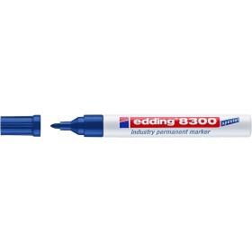 Edding 8300 Endüstri Permanent Markör MAVİ 1.5-3mm Yuvarlak  uç