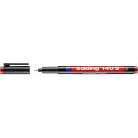 Edding 140S Çok Amaçlı Asetat Kalemi - Permanent KIRMIZI 0.3mm Kesik uç