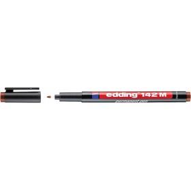 Edding 142M Çok Amaçlı Asetat Kalemi - Permanent KAHVERENGİ 1mm Yuvarlak uç