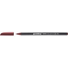 Edding 1200 Grafik Kalemi Kirli Kırmızı