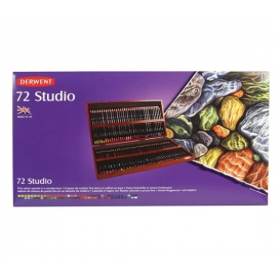 Derwent Studio Pencils Kuruboya Kalemi 72'li Ahşap Kutu