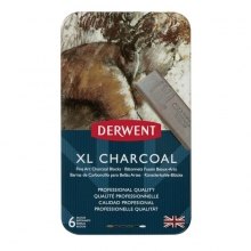 Derwent XL Charcoal Füzen Bloklar 6'lı Set Teneke Kutu