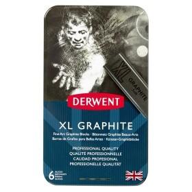 Derwent XL Grafit Bloklar 6'lı Set Teneke Kutu