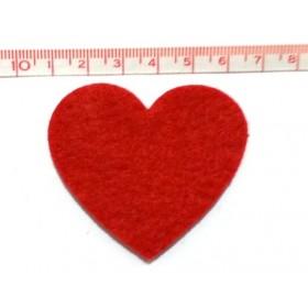Kırmızı Kalp Keçe