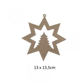 Askılı Yılbaşı Süsü Kar tanesi Çam 13cm