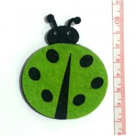 Uğur Böceği Yeşil Keçe