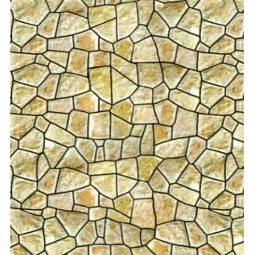 Yeşil Moloz Taş Desenli Karton Duvar 1/100 3 lü