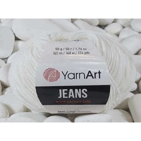 YarnArt Jeans Amigurumi El Örgü İpi 50gr - 01 BEYAZ