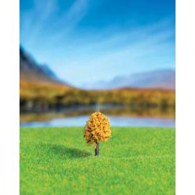 Turuncu Renkli Bodur Ağaç 2,5 cm 6 lı