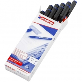 Edding 141F Asetat Kalemi 10lu Paket Mavi