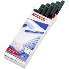 Edding 141F Asetat Kalemi 10lu Paket Yeşil