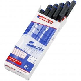 Edding 142M Asetat Kalemi 10'lu Paket Mavi
