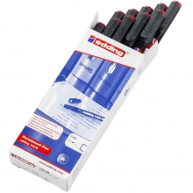 Edding 142M Asetat Kalemi 10'lu Paket Kırmızı