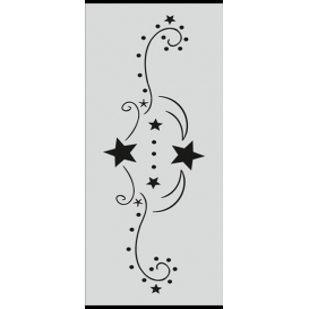 U006 Stencil 10x25 cm