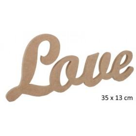 Love Yazısı Duvar Süsü Ahşap Obje 35x13 cm