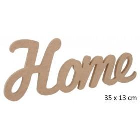 Home Yazısı Duvar Süsü Ahşap Obje 35x13 cm