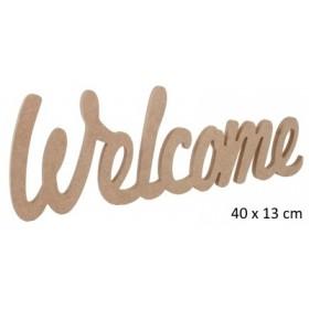 Welcome Yazısı Duvar Süsü Ahşap Obje 40x13cm