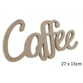 Coffe Yazısı Duvar Süsü Ahşap Obje 27x13 cm