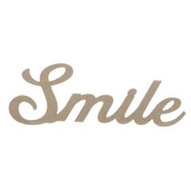 Smile Yazısı Duvar Süsü Ahşap Obje 35x13 cm