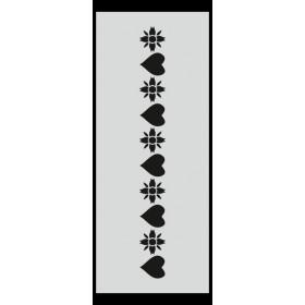 U010 Stencil 10x25 cm
