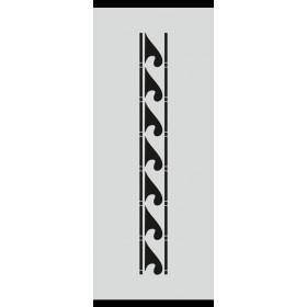 U015 Stencil 10x25 cm