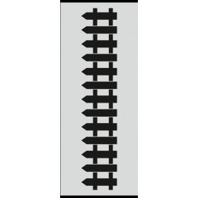 U025 Stencil 10x25 cm