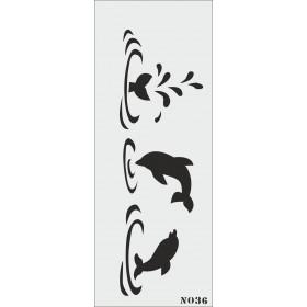 biStencil Yunuslar Şablon 10x25cm N-036