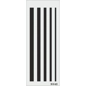 biStencil Çizgiler Şablon 10x25cm N-042
