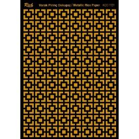 Rich Varak Soft Dekopaj Kağıdı 29x42cm - 7001 ALTIN