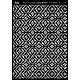 Rich Varak Soft Dekopaj Kağıdı 29x42cm - 7008 GÜMÜŞ