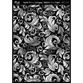 Rich Varak Soft Dekopaj Kağıdı 29x42cm - 7010 GÜMÜŞ